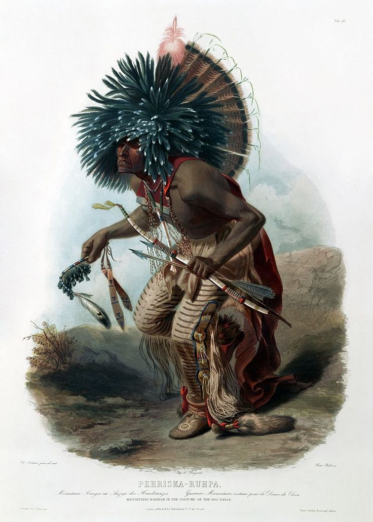 * Pehriska-Ruhpa of the Dog Society of the Hidatsa Tribe of Native Americans * (by Karl Bodmer).