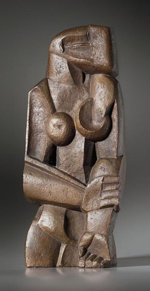 Femme debout (Woman standing) | Artist: Ossip Zadkine | Completion Date: 1922 | Style: Expressionism | Gallery: Susse Foundry, Paris, France