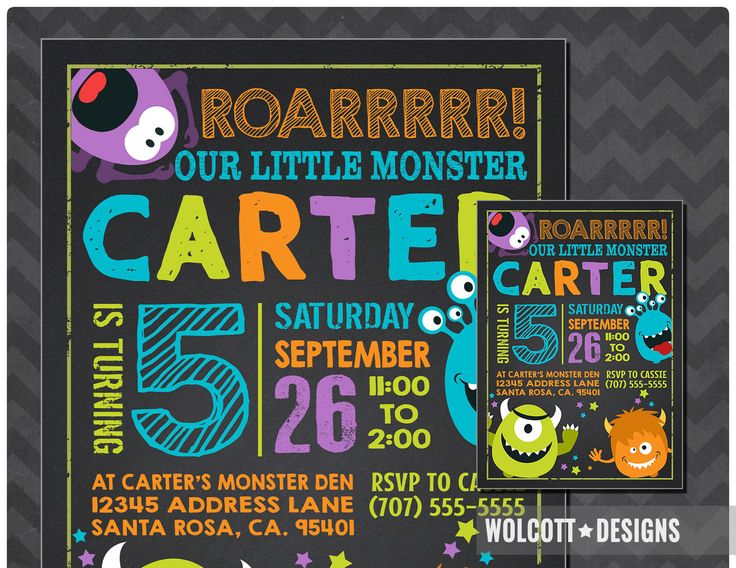 Monster 1st birthday invitation, Little Monster Invitation, Monster Party, Little Monster Party Invitation, 1st birthday Boy, First Birthday by WolcottDesigns on Etsy