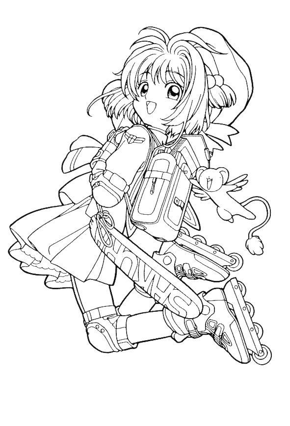 sakura 999 coloring pages