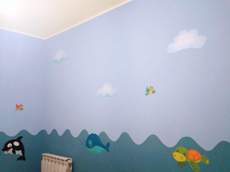 wall clouds, happy birds and under the sea mega sticker www.stikid.com