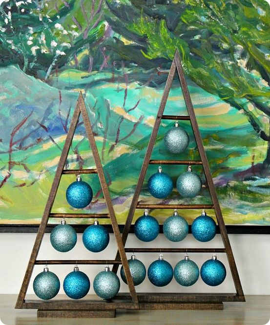 DIY Christmas Decorations ~ Follow this tutorial to build these Crate & Barrel inspired ornament trees for Christmas!