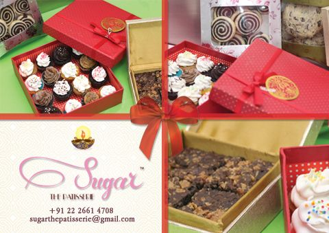 Diwali is around the corner, and that means planning for gifts for all the special people in your life! At Sugar, we offer special gift options, everything from Custom Cookies, Cakes & Cupcakes to chocolates & desserts. Call or email us to place your orders in advance. #sugarthepatisserie #diwali #gifts #dessert #yummyinmytummy #customgifts