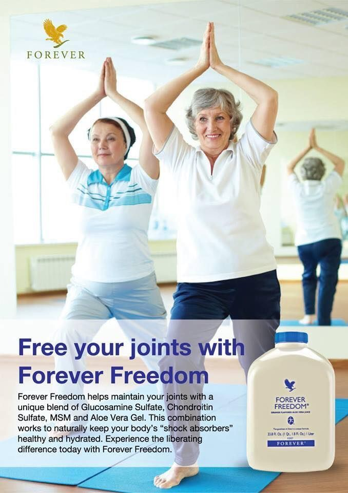 Keep your body's 'Shock Absorbers' healthy and hydrated with Forever Freedom, Aloe Vera Gel. Please see www.aloextra.flp.com for details.
