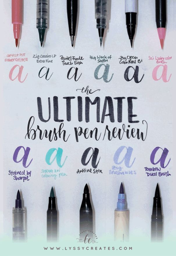 There are so many brush pens out there that it's hard to pick one, so a review is in order —here are the different types of brush pens I own and why and when they are awesome (or not)!