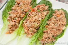 These Asian inspired raw vegan lettuce wraps contain a textural variety of nutritious vegetables, walnuts for good fats, and of course, leafy greens! If you like the PF Chang's lettuce wraps, but want something healthier and cruelty-free, this recipe is for you! From Taste of Two Plates.