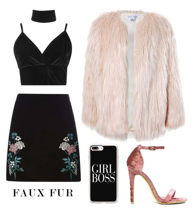 """""""faux fur"""" by folea-petra-dana on Polyvore featuring Dorothy Perkins, Boohoo, Sans Souci and Casetify"""