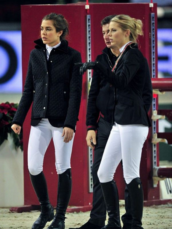 Princess Charlotte Casiraghi (on left), daughter of Princess Caroline of Monaco. This is what I call equestrian royalty! Love it.