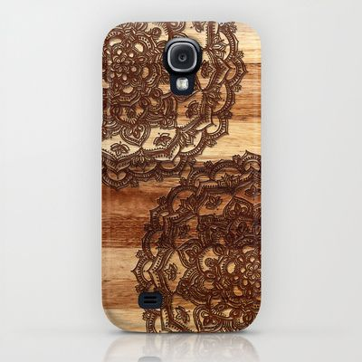 Burnt Wood Chocolate Doodle in warm neutral brown / tan tones iPhone & iPod Case $35.00
