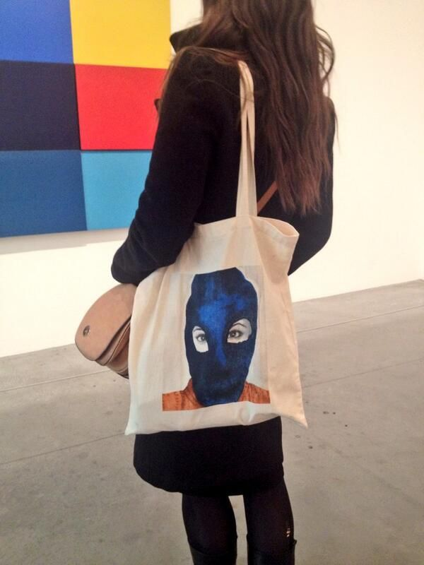Wendy Saunders Cool.. just seen #pussyriot @Axisweb bag @Alison Hobbs M which supports @UKWILPF