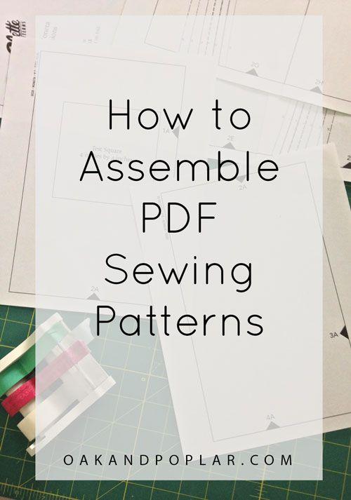 Tutorial: How to Assemble PDF Sewing Patterns - Oak & Poplar