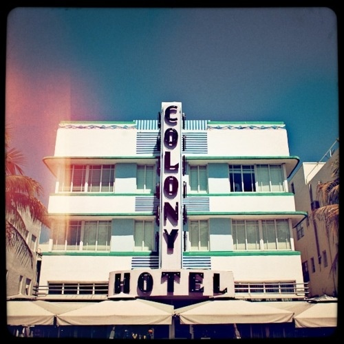 Miami Beach, FL, we stayed in the famous historical Colony Hotel that sits right on the strip.  Great time!