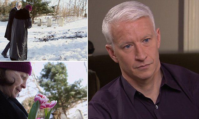 Anderson Cooper cries over the grave of his brother Carter