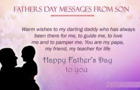 Fathers day Messages from Son...