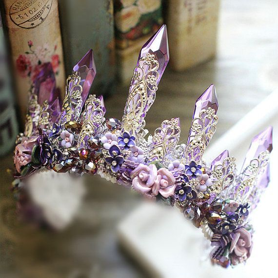Hey, I found this really awesome Etsy listing at https://www.etsy.com/uk/listing/460150652/bridal-crown-purple-crystal-crown