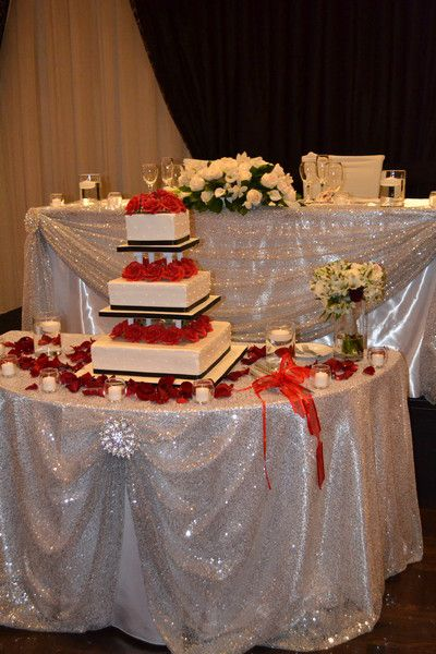 Red And White Wedding Cake Table Stylish Wedding Cake Tabl