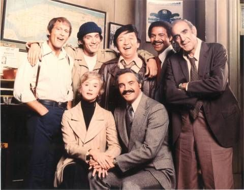 """barney miller""  Hal Linden, Abe Vigoda and Steve Landesberg     great ensemble cast...."