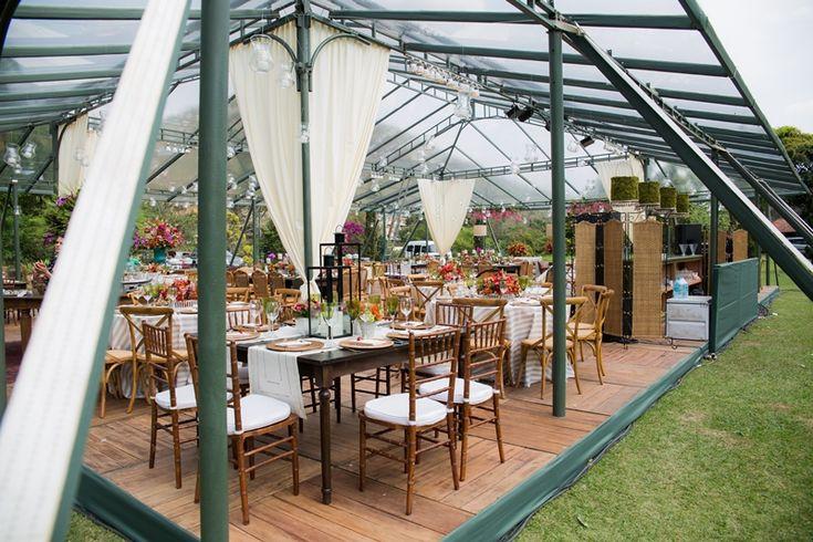 Casamento rustico - toldo para casamento ao ar livre