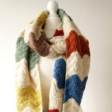Free Crochet Patterns Zig Zag Scarf : 1000+ images about Crochet multicolor on Pinterest Free pattern ...
