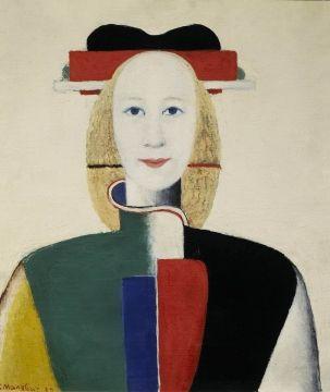 Girl with a Comb in her Hair   Kazimir Malevich   1932   Государственная Третьяковская Галерея / The State Tretyakov Gallery   Public Domain Marked