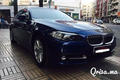 2016, Voiture, BMW, 5 Series, Casablanca