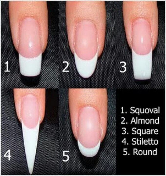 Different Types of Nail Shapes - 60 Best Stiletto Nails / Almond Nails Designs Images On Pinterest