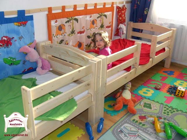 Pontjó ágyak külön-külön használva