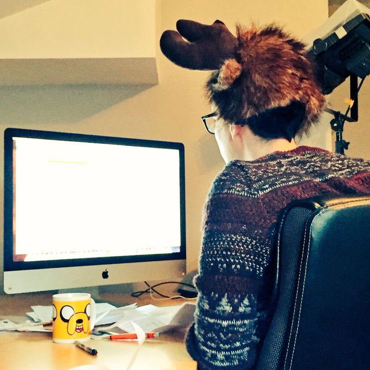 Philly in a moose hat <3