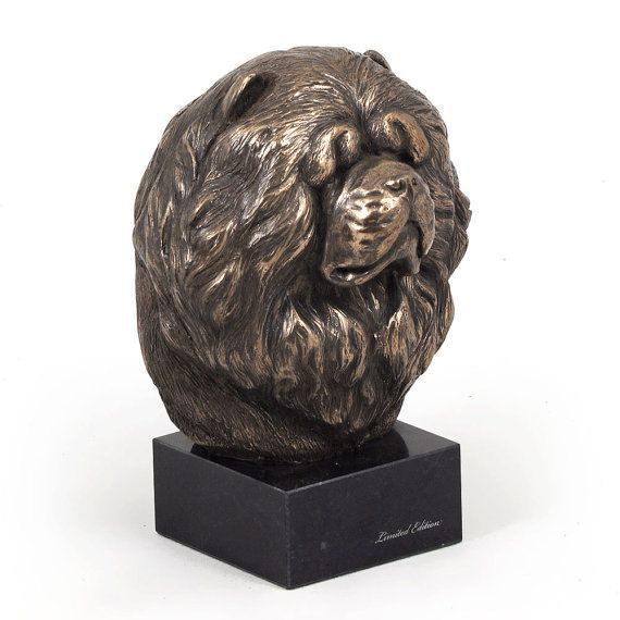 Chow Chow dog marble statue limited edition by ArtDogshopcenter