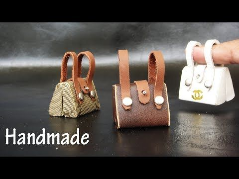 DIY Miniature Realistic Bags #1 - Handmade Dollhouse - YouTube