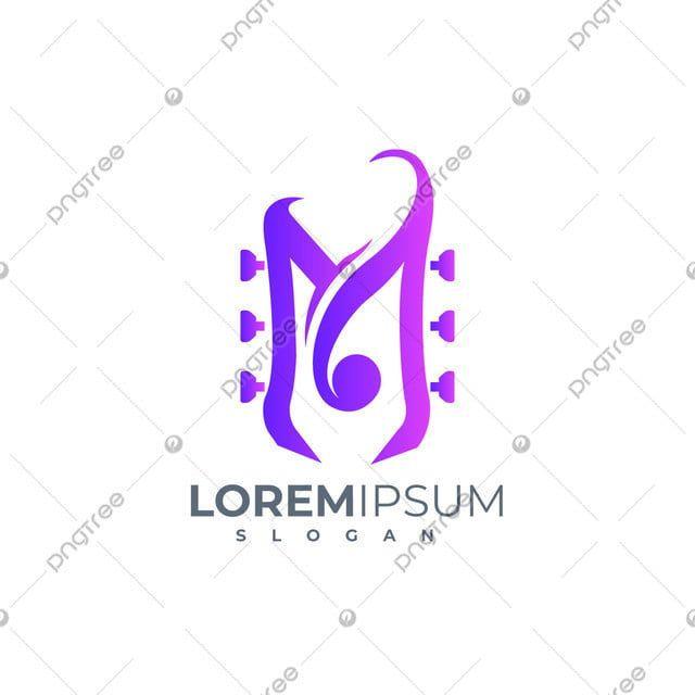 موسيقى الحب م حرف تصميم شعار ناقلات Letter Logo Design Lettering Letter Logo