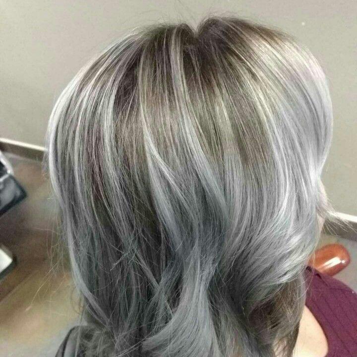 balayage sur cheveux gris coiffures la mode de cette saison. Black Bedroom Furniture Sets. Home Design Ideas