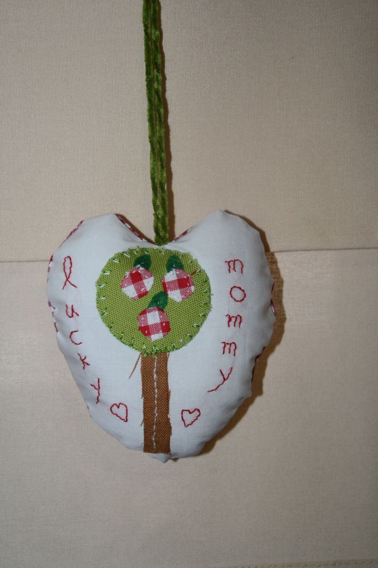 fabric heart for a lucky mommy with three girls