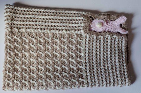 Sweet Bunny Blanket by LovelyBabycrochet on Etsy, $60.00