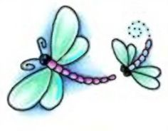 Whimsical Dragonfly Drawings Small dragonfly tattoos dragonfly tattoo ...