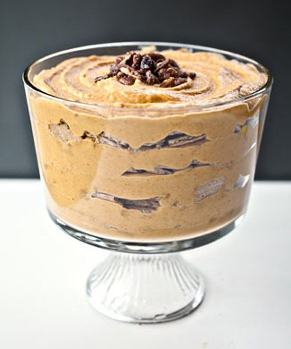 This pumpkin trifle is easy and a crowd pleaser. Plus it's ...