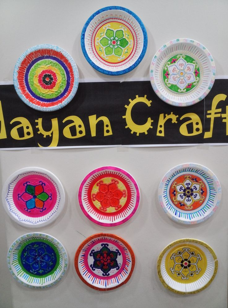 Mayan Craft - Use paper or styrofoam plates and permanent markers to ...