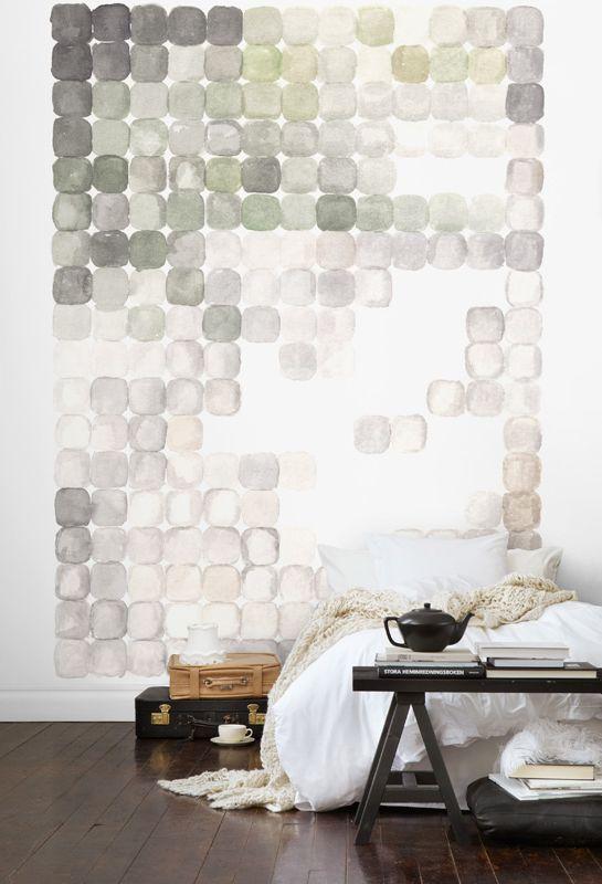 Love the creative wall design. Serene bedroom  found@ardesiadesign
