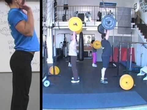 push press - dip w legs, push with chest, press w arms