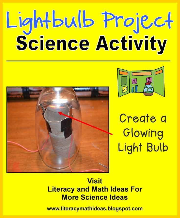Literacy & Math Ideas: STEM in the Classroom: Make a Lightbulb--Fun activities to teach the Next Generation Standards