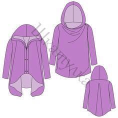Muster der Frauen Sweatshirts mit Reißverschluss-Swing