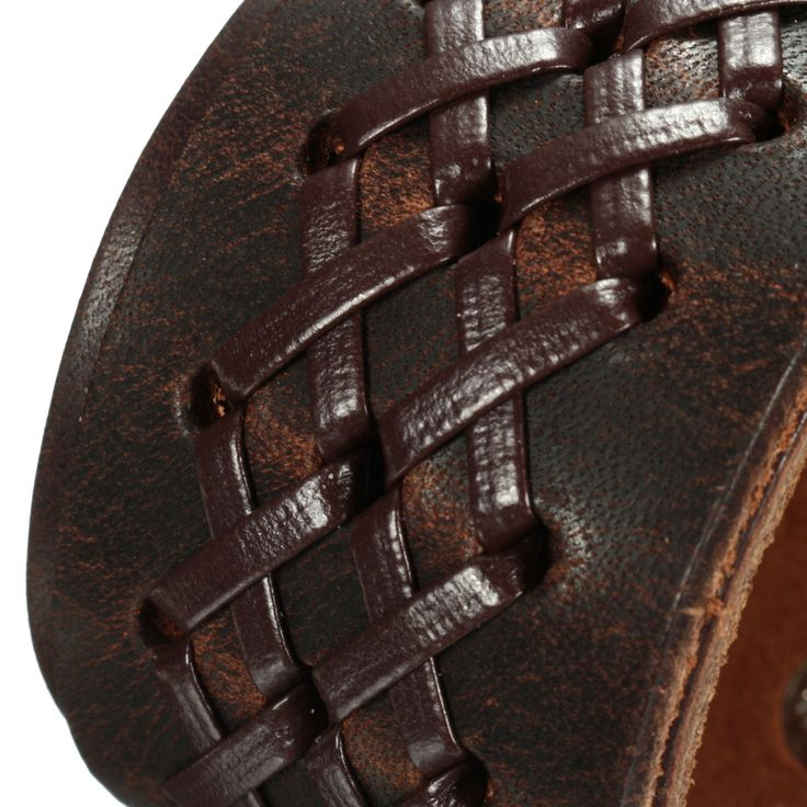 Punk Weaving Adjustable Bracelet Men Wristband Cross Bangle Chain