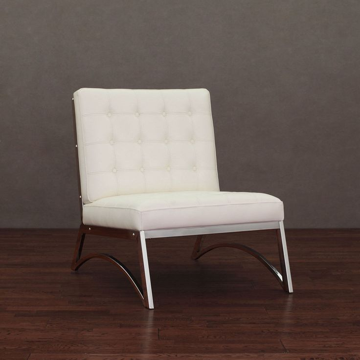 Madrid Modern White Leather Chair | Overstock.com Shopping   Great Deals On  Chairs