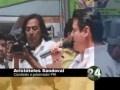 Aristóteles Sandoval, el candidato del PRI al Gobierno de Jalisco, se pronunció por el tema de la seguridad pública y la movilidad urbana, siendo estos los ejes principales de su campaña; en un recorrido por el mercado, San Juan de Dios, Sandoval recalcó la importancia de trabajar en coordinación para atacar la violencia