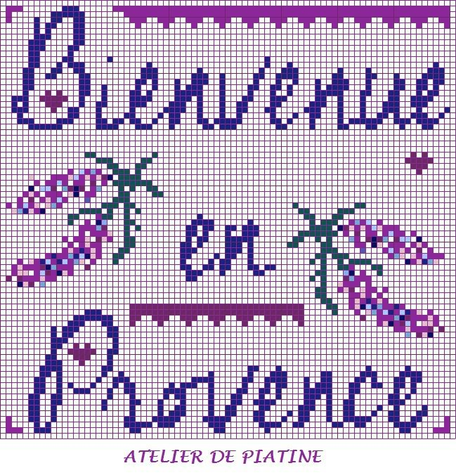 grille broderie Bienvenue en Provence