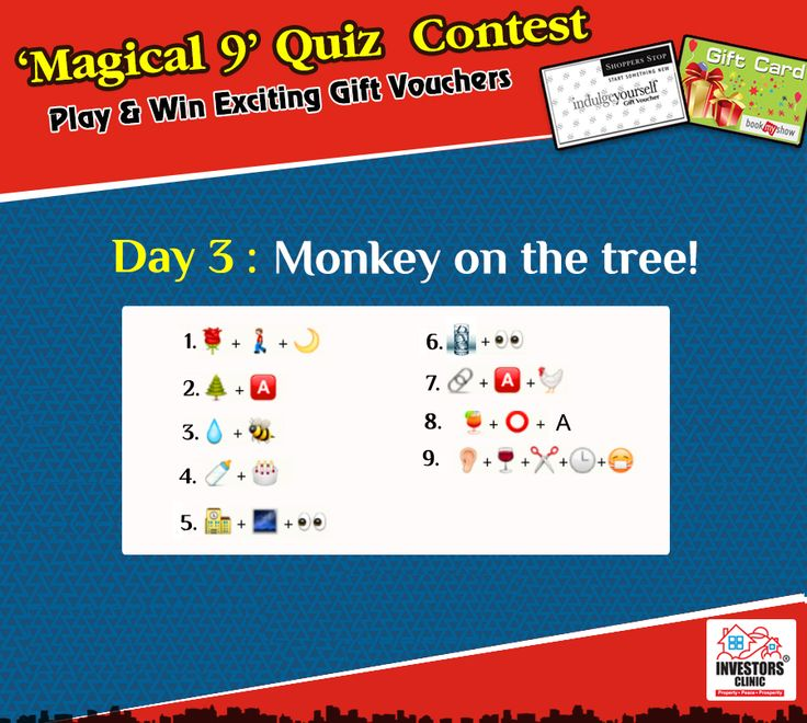 """Magical 9"" Contest - Guess the names of sweets to win exciting prizes.."