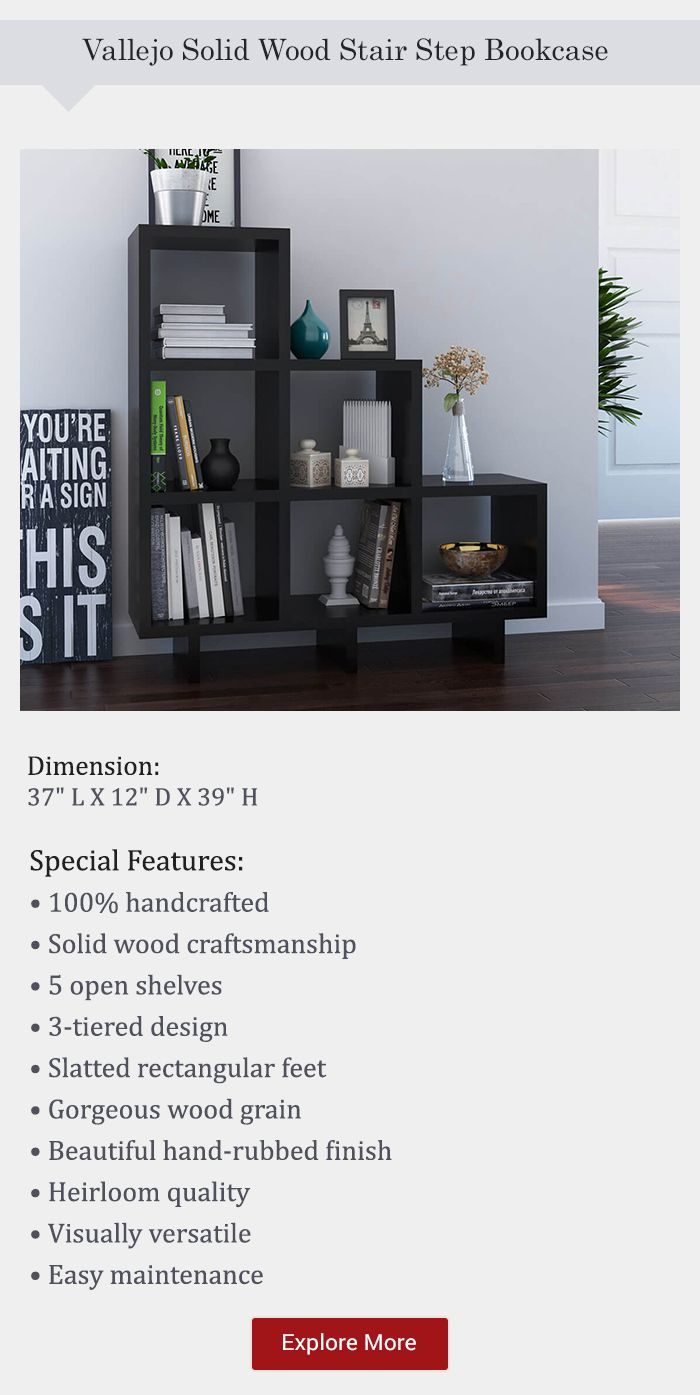 Best Efficient Real Solid Wood Stair Step Bookcases With 400 x 300