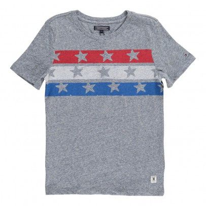 Tricolour Flag Stars T-shirt Grey  Tommy Hilfiger