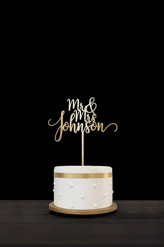 Customized Wedding Cake Topper Personalized Cake Topper for