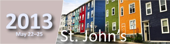 2013 CAMRT Annual General Conference, May 22-25 in St. John's Newfoundland.